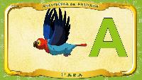 Мультипедия животных Французский алфавит Французский алфавит - La lettre A - l'Ara