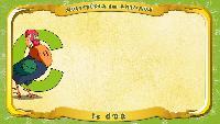 Мультипедия животных Французский алфавит Французский алфавит - La lettre C - le Coq