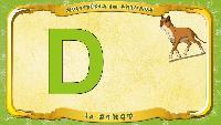 Мультипедия животных Французский алфавит Французский алфавит - La lettre D - le Dingo