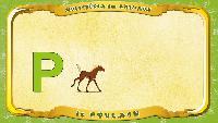 Мультипедия животных Французский алфавит Французский алфавит - La lettre P - le Poulain